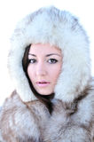 Girl in fur Royalty Free Stock Image