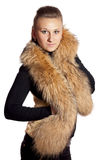 Girl in fur Royalty Free Stock Photos