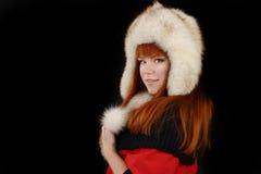 Girl in fur Stock Image