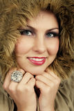 Girl in fur Stock Photo