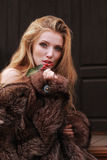 Girl in fur. Beautiful girl in fur c berry Stock Photography