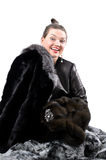 Girl in Fur Royalty Free Stock Images