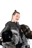 Girl in Fur Royalty Free Stock Photography
