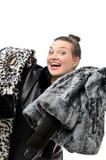 Girl in Fur Stock Photo