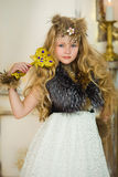 The girl in fur clothes Royalty Free Stock Image