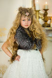 The girl in fur clothes Royalty Free Stock Photography