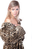 The girl in  fur coat Stock Photography