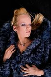 Girl in a fur coat Stock Photography