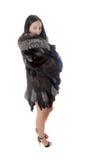 Girl in a fur coat Stock Photos