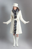 Girl in fur coat Stock Image