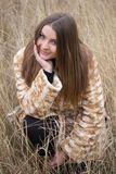 Girl in a fur coat Royalty Free Stock Photos
