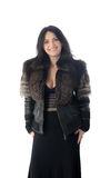 Girl in a fur jacket Royalty Free Stock Photography