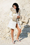 Girl in furs 12 Royalty Free Stock Photos