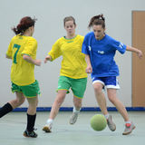 Girl futsal competition Royalty Free Stock Images