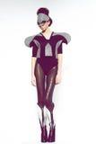 Girl in futuristic clothes Stock Photos