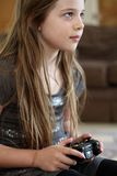 Girl gaming Stock Images