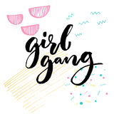 Girl gang. Feminism slogan typography for apparel. Stock Photography