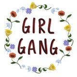 Girl gang. Hand lettering illustration. royalty free illustration