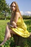 Girl in the garden Royalty Free Stock Photos