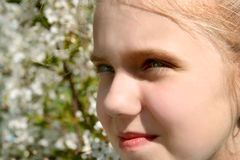 Girl in garden Royalty Free Stock Photos