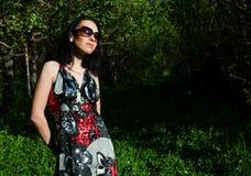 The girl in a garden Stock Photography