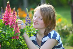 Girl in the garden Royalty Free Stock Image