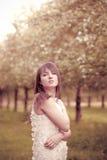Girl in the garden Stock Photo