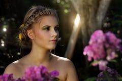 Girl in the garden Stock Photos