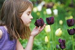 Girl in the garden. Royalty Free Stock Photos