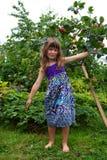 Girl in garden Stock Photo