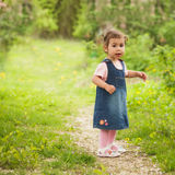 Girl in the garden royalty free stock photos