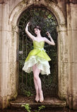 Girl in the garden Stock Images