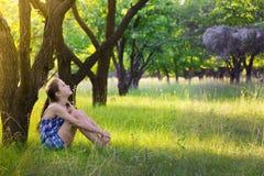 Girl at the garden Royalty Free Stock Photos