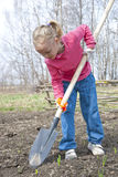 Girl gardening Royalty Free Stock Photo