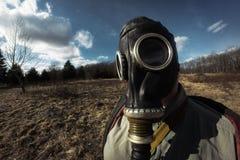 Girl Gas Mask Stock Photo