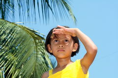 Girl gazing into the distance Royalty Free Stock Photo