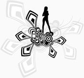 The girl - a geometrical abstract background. Abstract geometrical background for posters, sites, banners, flyers Stock Images