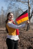 Girl with germany flag Stock Photography