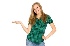 Girl gesturing Stock Photography