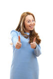Girl is gesturing everything is fine Royalty Free Stock Photo
