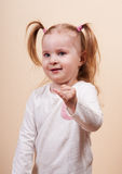 Girl Gesturing Royalty Free Stock Photos