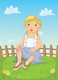 Girl Get Injured Vector Illustration royalty free illustration