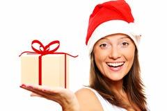 Girl and gift Stock Image