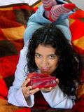 Girl with gift Stock Image