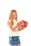 Girl with gift Royalty Free Stock Image