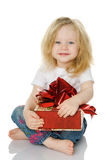 The girl with a gift Royalty Free Stock Images