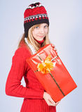 Girl with gift Stock Photos