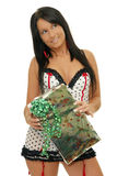 Girl with gift Royalty Free Stock Photo