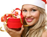 The girl with a gift Stock Images