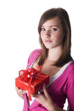 Girl with gift. Stock Image